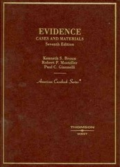 Evidence, Cases and Materials 7th edition 9780314168795 0314168796