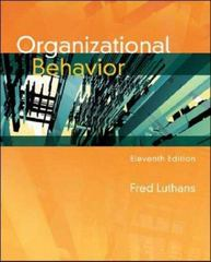 Organizational Behavior 11th edition 9780073404950 0073404950