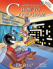 C How to Program 5th edition 9780132404167 0132404168