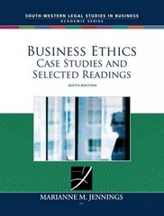 Business Ethics 6th edition 9780324657746 0324657749