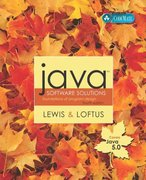 Java Software Solutions (Java 5 Version) 4th edition 9780321322036 0321322037