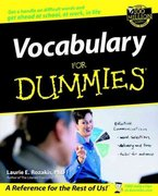 Vocabulary For Dummies 1st edition 9780764553936 0764553933