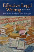 Effective Legal Writing 5th edition 9781566627931 1566627931