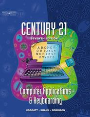 Century 21 Computer Applications & Keyboarding 7th edition 9780538691529 0538691522