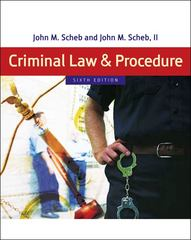 Criminal Law and Procedure 6th edition 9780495095484 0495095486