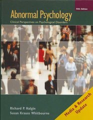 Abnormal Psychology 5th edition 9780073382753 0073382752