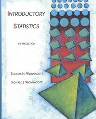 Introductory Statistics 5th Edition 9780471615187 0471615188