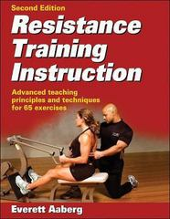 Resistance Training Instruction 2nd Edition 9780736064033 0736064036