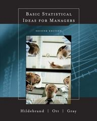 Basic Statistical Ideas for Managers (with CD-ROM) 2nd edition 9780534378059 0534378056