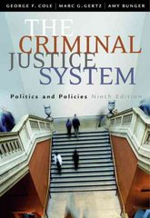 The Criminal Justice System 9th edition 9780534628741 0534628745
