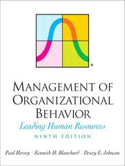 Management of Organizational Behavior 9th edition 9780131441392 0131441396
