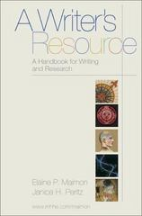 A Writer's Resource 1st edition 9780070400559 0070400555