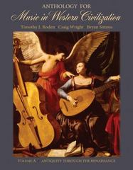 Anthology for Music in Western Civilization, Volume A 1st edition 9780495008798 0495008796