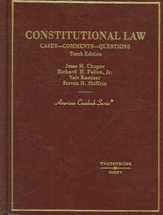 Constitutional Law 10th edition 9780314162632 0314162631