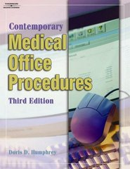 Contemporary Medical Office Procedures 3rd edition 9781401863456 1401863450