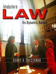 Introduction to Law 1st edition 9780131123731 0131123734