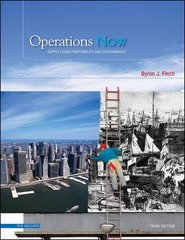 Operations Now 3rd edition 9780073297057 0073297054
