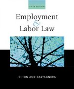 Employment and Labor Law 5th edition 9780324260328 0324260326