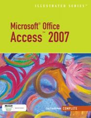 Microsoft Office Access 2007Illustrated Complete 1st edition 9781423905196 1423905199