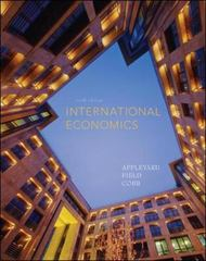 International Economics 6th edition 9780073375670 0073375675