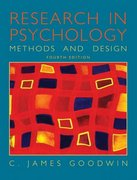 Research In Psychology 4th edition 9780471450085 0471450081
