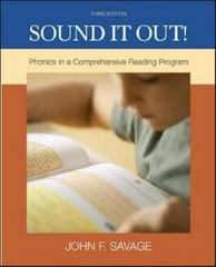 Sound It Out! Phonics in a Comprehensive Reading System 3rd edition 9780073131245 0073131245
