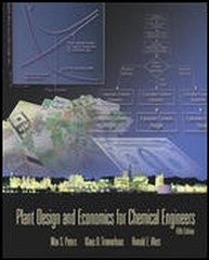 Plant Design and Economics for Chemical Engineers 5th edition 9780072392661 0072392665