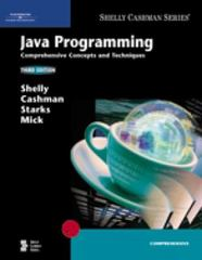 Java Programming 3rd edition 9781418859855 1418859850