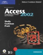 Microsoft Access 2002: Comprehensive Concepts and Techniques 1st edition 9780789562821 0789562820