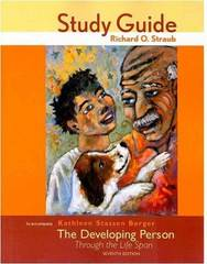 The Study Guide for Developing Person Through the Life Span 7th Edition 9780716760924 0716760924