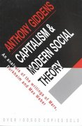 Capitalism and Modern Social Theory 0 9780521097857 0521097851