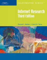 Internet Research-Illustrated, Third Edition 3rd edition 9781423905080 1423905083