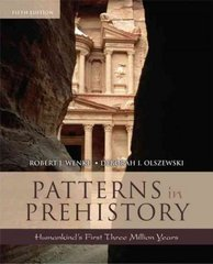 Patterns in Prehistory 5th edition 9780195169287 019516928X