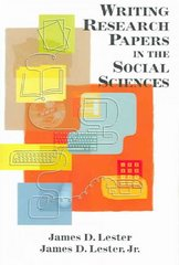 Writing Research Papers in the Social Sciences 1st edition 9780321267634 032126763X