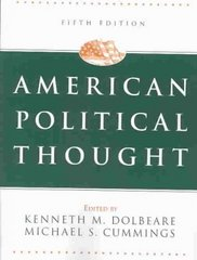 American Political Thought, 5th Edition 5th Edition 9781568029139 1568029136