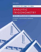 Analytic Trigonometry with Applications, Student Solutions Manual 9th edition 9780471746560 0471746568