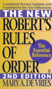 The New Robert's Rules of Order 2nd edition 9780451195173 0451195175