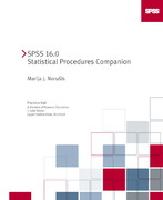 SPSS 16. 0 Statistical Procedures Companion 2nd edition 9780136061397 0136061397