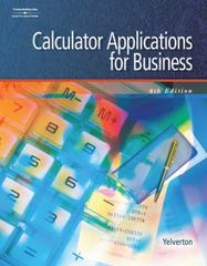 Calculator Applications for Business 4th Edition 9780538441438 0538441437