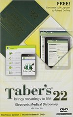 Taber's Cyclopedic Medical Dictionary & Electronic Medical Dictionary, Version 5.0 (Package) 22th Edition 9780803638471 0803638477