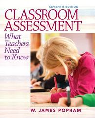 Classroom Assessment 7th Edition 9780132868600 0132868601