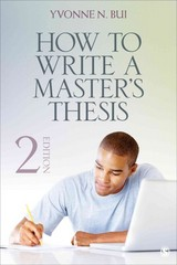 How to Write a Master's Thesis 2nd Edition 9781483310893 1483310892