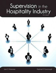 Supervision in the Hospitality Industry with Answer Sheet (AHLEI) 5th edition 9780133255089 0133255085