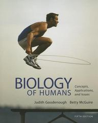 Biology of Humans 5th Edition 9780321821713 0321821718