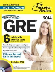 Cracking the GRE with 6 Practice Tests & DVD, 2014 Edition 1st Edition 9780307945648 0307945642