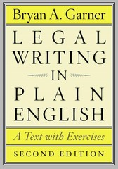 Legal Writing in Plain English 2nd Edition 9780226283937 0226283933