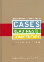Health Services Management 10th Edition 9781567934908 1567934900