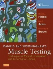Daniels and Worthingham's Muscle Testing 9th Edition 9781455706150 1455706159