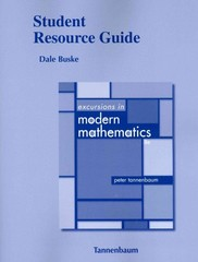 Student Resource Guide for Excursions in Modern Mathematics 8th Edition 9780321837219 0321837215