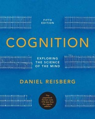 Cognition 5th Edition 9780393921779 0393921778